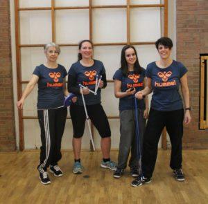 Angelika Hermeling, Birgit Bernsee, Anna Zimmermann und Carmen Zimmermann