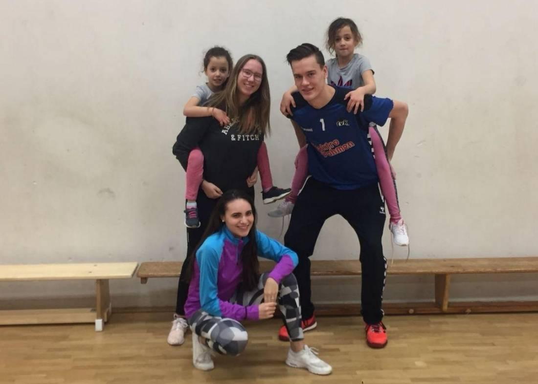 Mädchensportgruppe